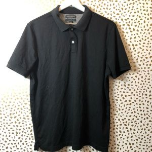 BANANA REPUBLIC MENS black skinny polo SZ L